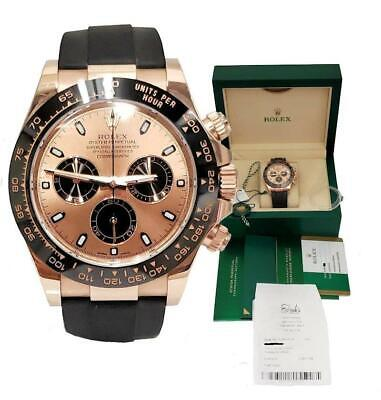 $ CDN43786.34 • Buy 2019 Rolex Daytona Rose Gold Oysterflex Ceramic Bezel Pink Dial 116515ln 40mm