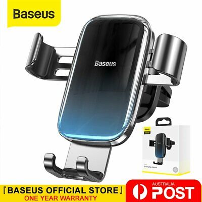 AU17.47 • Buy Baseus All Metal Gravity Car Phone Holder Air Vent Clip Mount For IPhone Samsung