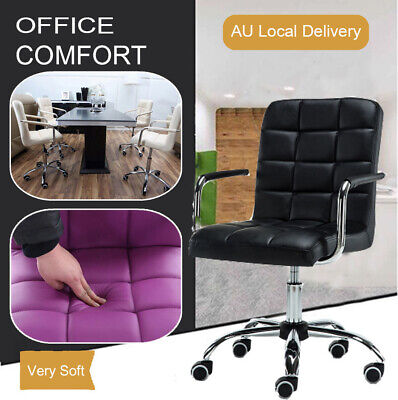AU99.89 • Buy Home Computer Executive Office Desk Chair PU Leather Swivel High Back Seat Chair