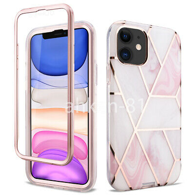 AU15.98 • Buy For IPhone 11 Pro Max XS MAX SE XR Case Marble Shockproof Heavy Duty Armor Cover