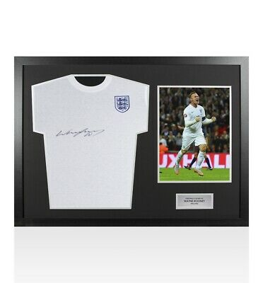 £214.99 • Buy Framed Wayne Rooney Signed England T-Shirt - Panoramic Autograph
