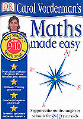 Maths Made Easy: Age 9-10 Book 1: Age 9-10 Bk.1 (Carol Vorderman's Maths Made Ea • 2.99£