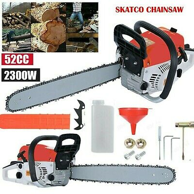 "View Details Heavy Duty 20"" 52cc Chainsaw Wood Cutting Saw Cutter Two Stroke Petrol Engine UK • 69.54£"