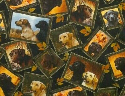 Fat Quarter Fabric  Loyal Labs  Labradors  Hunting Dogs  Puppy Qt 100% Cotton Fq • 2.83£