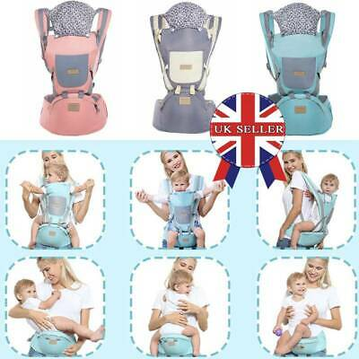 Ergonomic Infant Baby Carrier With Hip Seat Adjustable Wrap Sling Backpack New_r • 17.49£