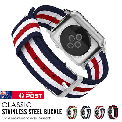 AU10.99 • Buy For Apple Watch Band Series SE/6/5/4/3 Band Woven Nylon Sports IWatch Strap Band