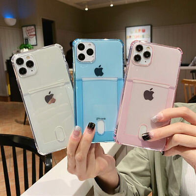 AU9.98 • Buy CARD HOLDER Case For IPhone 11 12 Pro XR X 7 8 SE2 Shockproof Cover Wallet Money