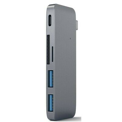AU49.95 • Buy Satechi USB-C Passthrough Hub (Space Grey)