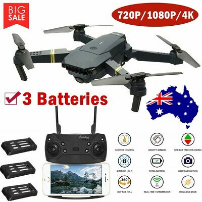 AU67.59 • Buy Drone X Pro WIFI FPV 4K HD Camera 3Batteries Foldable Selfie 2.4G RC Quadcopter@