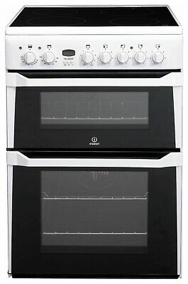 £339.99 • Buy Indesit ID60C2 Free Standing 60cm 4 Hob Double Electric Cooker - White