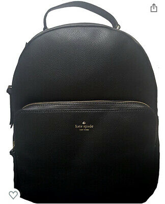 $ CDN251.01 • Buy Authentic Nwt Kate Spade $429 Leather Nicole Larchmont Avenue Black Backpack