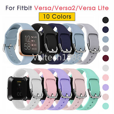 $ CDN6.65 • Buy For Fitbit Versa 2 1 Lite Sport Silicone Watch Strap Band Wristband Replacement