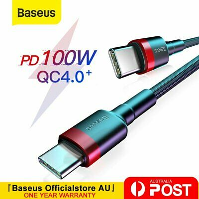 AU9.99 • Buy Baseus 100W Type C To USB C Cable QC PD Quick Charge Cable For Samsung Mackbook