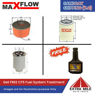 AU73.61 • Buy MaxFlow Engine Filter Kit For Toyota Landcruiser Dsl 6 Cyl 4.2L 1HD-FTE