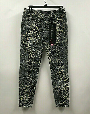 $9.07 • Buy NWT FREE STYLE Womens Size 5 Gray Animal Print Skinny Stretch Pants / Jeans