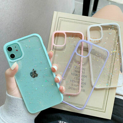 Shockproof Bling Glitter Case Slim Cover For IPhone 12 11 Pro Max SE XR 7 8 Plus • 3.59£