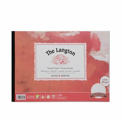 Daler Rowney Langton Watercolour Hot Pressed Pad 14x10  300g 12sh • 16.02£