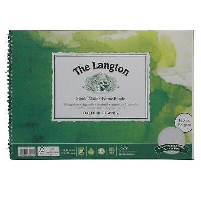 Daler Rowney Langton Watercolour Cold Press Spiral 14x10  300g 12sh • 17.36£