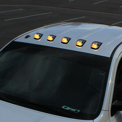 $29.99 • Buy 5Pc Amber Led Clear Upper Roof Cab Marker Parking Running Light Truck Pickup Suv
