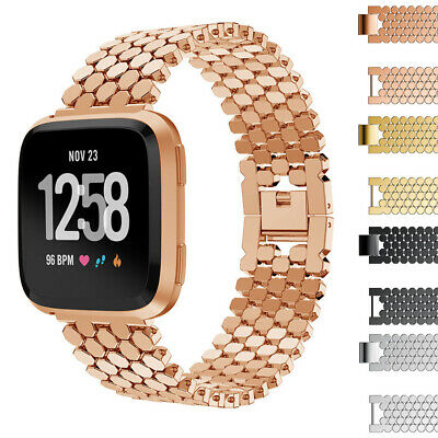 $ CDN18.76 • Buy For Fitbit Versa 1 2/SE/Lite!Luxury Stainless Steel Metal Loop Wrist Band Strap