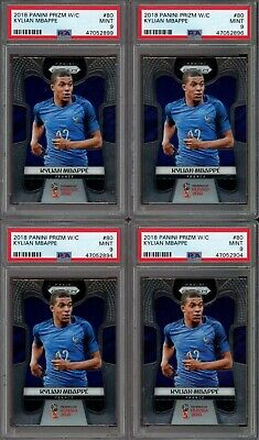 $ CDN1572.39 • Buy Investor Lot Of (4) 2018 Panini Prizm Soccer #80 Kylian Mbappe RC Rookie PSA 9