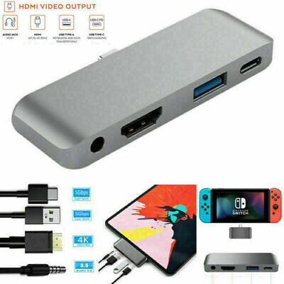 AU24.32 • Buy Type C Hub Adapter PD Charger 4K HDMI USB 3.5mm Jack For IPad Pro Switch Macbook