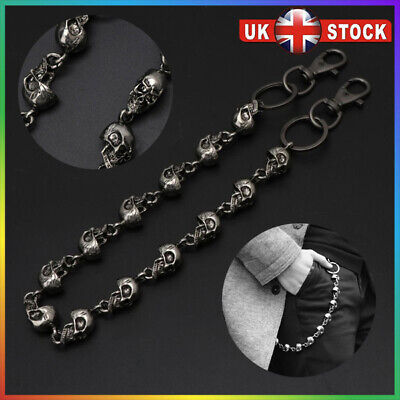 Sexy Gothic Black Metal Wallet Jeans Chains Thick Skulls Biker Trucker Chain Kit • 8.97£