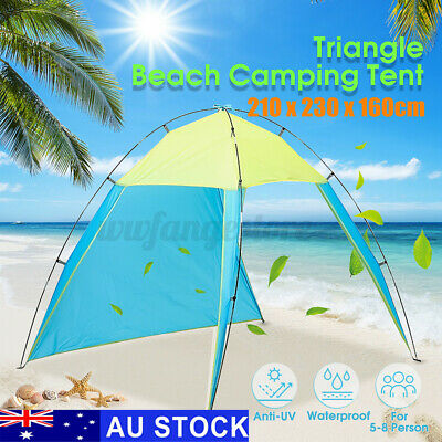 AU21.99 • Buy AUS 5-8 Person Portable Camping Tent Outdoor Beach Hiking Sun Shade Shelter