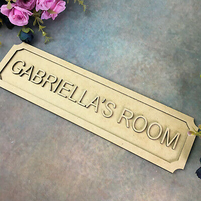 Personalised Sign Any Text Wooden Door Wall Plaque Room Name Home Decoration S1 • 5.99£