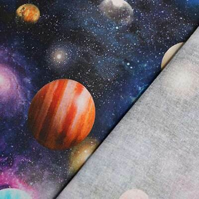 $20.70 • Buy 100% Cotton Little Johnny Planets & Universe Galaxy Fabric, Space, Quilting