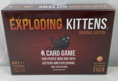 AU25 • Buy NEW SEALED Exploding Kittens: A Card Game About Kittens And Explosions