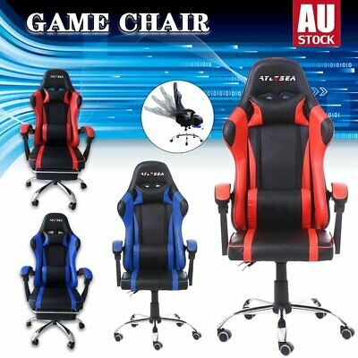 AU123.05 • Buy Gaming Chair Computer Executive Office Racing Seat 155°Recliner Racer PU Leather