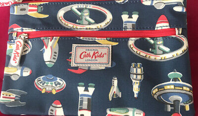 £9.99 • Buy Cath Kidston Double Zipped Space Rocket Themed Childrens Navy  Pencil Case