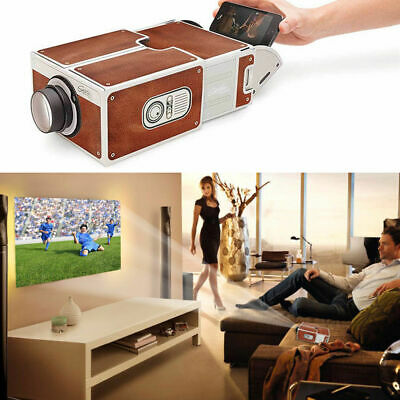 Smart Phone DIY Projector Portable Home Wall Cinema TV Screen For IPhone Samsung • 10.99£