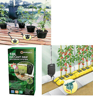Instant Drip Watering Gravity Fed Irrigation Plants Greenhouse System Water Kit • 5.95£