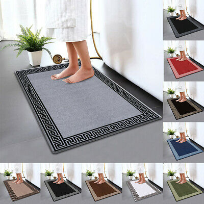 Non Slip Bath Mat Water Absorbent Toilet Pedestal Mats Small Large Bathroom Rug • 10.99£