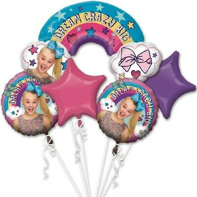 AU16.50 • Buy Giant JoJo Siwa Supershape Hair Bow & Rainbow Balloon Bouquet Party Decorations