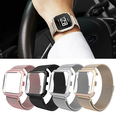 $ CDN10.71 • Buy For Fitbit Versa/SE Smart Watch!L/S Milanese Band Strap Loop W/Metal Case Cover