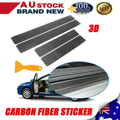 AU14.24 • Buy 4xAnti-Kick Carbon Fiber Car Accessories Auto Door Sill Scuff Protector Stickers