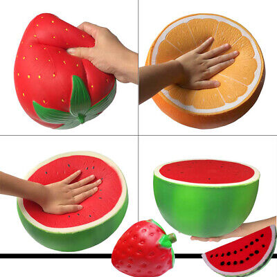 AU25.99 • Buy Anti-stress Reliever Squishy Squeeze Watermelon Orange Strawberry Fun Large Toys