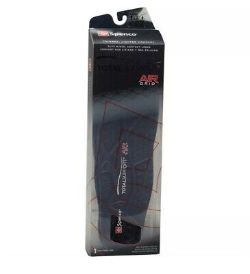 £6.99 • Buy New In Box Trainer Shoe Spenco Air Grid Total Support Cushion Pad 1 Pair Insole