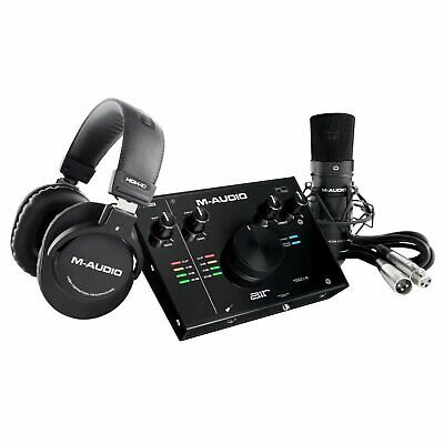 $199 • Buy M-Audio AIR 192 | 4 Pro Home Recording Interface Pack W Microphone & Headphones