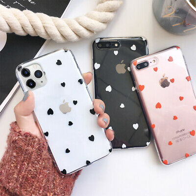 Case For IPhone 12 11 Pro Max XR XS 7 8Plus Soft Hearts Phone TPU Silicone Cover • 3.59£
