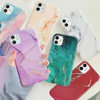 AU7.15 • Buy Marble Case For IPhone 11 XR 8 7 Plus XS Max SE ShockProof Soft Silicone Cover