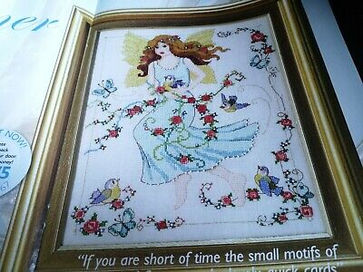 Cross Stitch Chart Summer Fairy Chart Only Birds Flowers Lady Chart • 2.50£