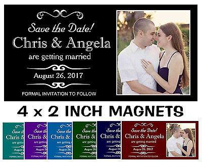 AU58.98 • Buy Save The Date Wedding Invitation Magnets ~ Free Shipping