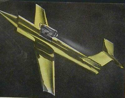 £4.36 • Buy Tether Jet Jetex Powered 1959 How-To Build PLANS Metal Foil 12 Wing