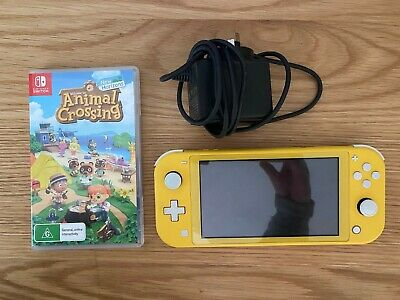 AU225 • Buy Nintendo Switch Lite (yellow) With Animal Crossing: New Horizons Game