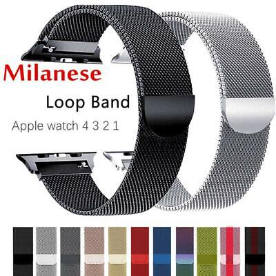 $ CDN6.03 • Buy For Apple Watch 4/3/2/1 Strap IWatch Band 42mm 38 Mm Stainless Steel Bracelet