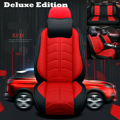 $ CDN174.83 • Buy  Car Seat Cover Luxury PU Leather Seat Cushion Protector Fit For 5-Seats Auto